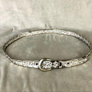 Stainless Steel/Leather VintageWomen's Belt 34